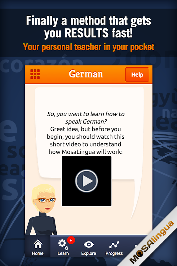 Learn German with MosaLingua Screenshot 0