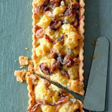 Cauliflower, Red Onion, and Chestnut Tart