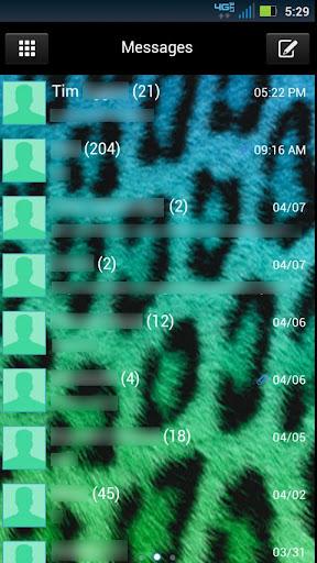 GO SMS Cute Cheetah Theme