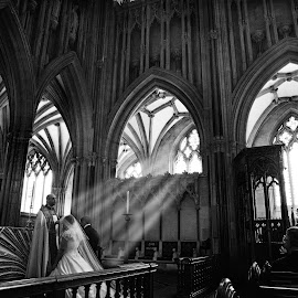 The Blessing  by Martin Hill - Wedding Ceremony ( wedding photography, wells cathedral, martin hill photography )