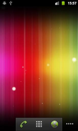 光のスペクトラムライブ壁紙 Spectrum ICS