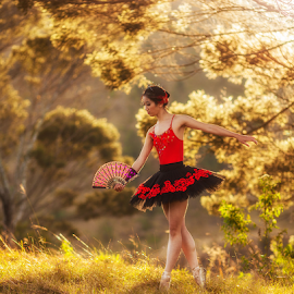 The ballerina by Rio Tanusudiro - People Professional People ( girl, woman, candid, beauty, ballet, morning )