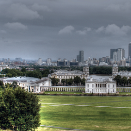 Greenwich by Veronika Gallova - City,  Street & Park  Skylines ( london, landmarks, view, greenwich )