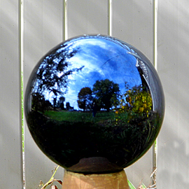 The Orb by Lorie  Carpenter  - Artistic Objects Glass ( reflection, orb, blue, green, glass, artistic, objects )