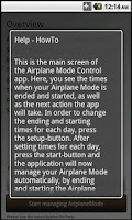 Screenshot of Airplane Mode Control