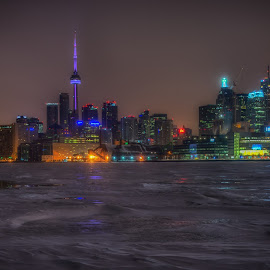 Cold Day in Toronto by Tom Baker - City,  Street & Park  Skylines ( toronto, toronto winter, downtown toronto )