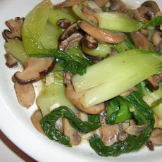 Baby Bok Choy Sauté With Mushrooms