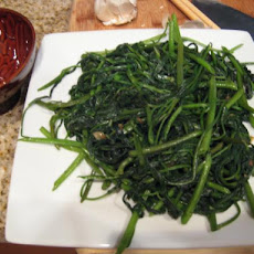 Flash-Cooked Greens With Garlic
