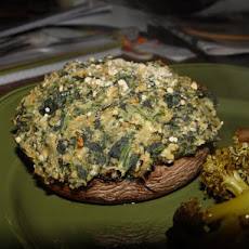 Spinach & Pecan Stuffed Portabella Mushrooms