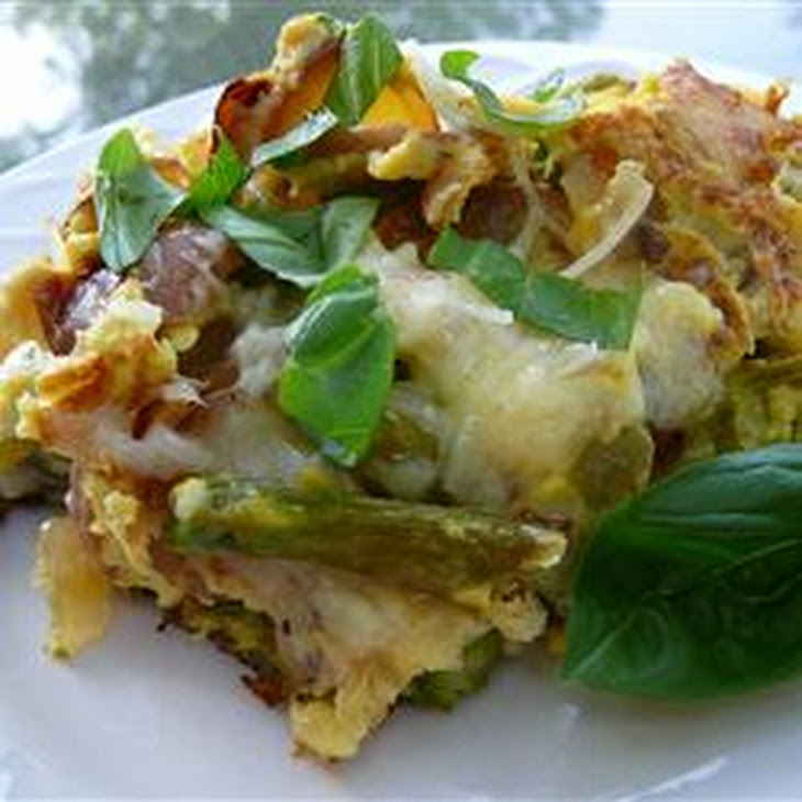 Asparagus, Potato, and Onion Frittata Recipe | Yummly