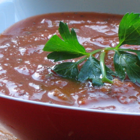 Tomato Soup with Roasted Garlic and Herbs