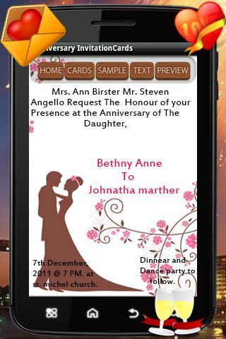 【免費生活App】Anniversary Invitation cards-APP點子
