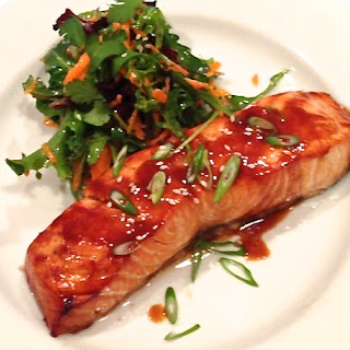 Broiled Salmon with Maple Soy Glaze