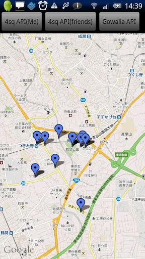 地図アプリのテスト