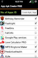 Screenshot of Apk Creator Free