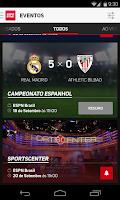 Screenshot of ESPN Sync