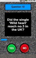 Screenshot of The Vamps Quiz