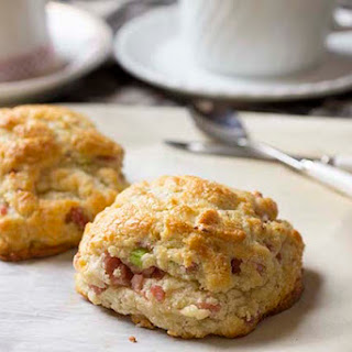 Ham and Cheese with Scallion Biscuits
