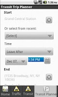 Screenshot of 511NY Mobile App