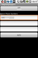 Screenshot of Ignore phone calls