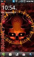 Screenshot of Mystical Skull Live Wallpaper