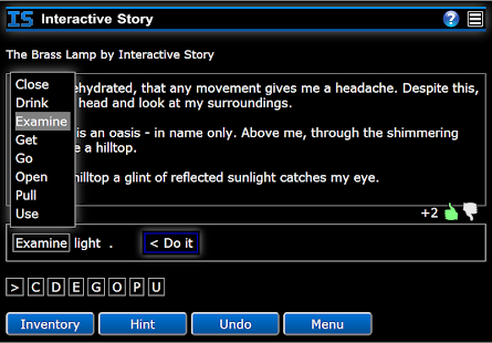 Interactive Story - screenshot