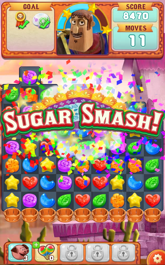 Sugar Smash: Book of Life - Free Match 3 Games Screenshot 5