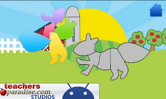 Screenshot of Animals! Shape Puzzles