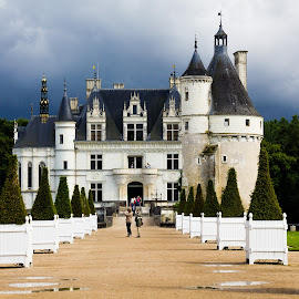 Chateau de Chenonceau by Gregory Ruderman - Buildings & Architecture Public & Historical ( loire, france, castle, chateau, turret )