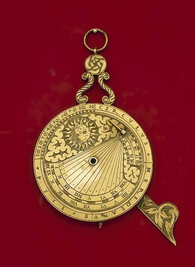 Nocturnal with sundial made in 1554