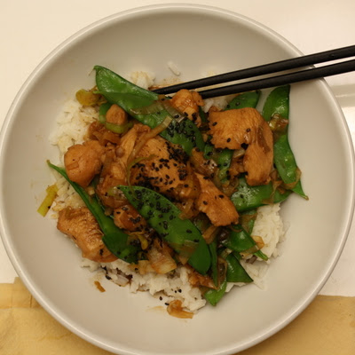 Chicken & Leek Stir Fry with Snowpeas
