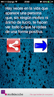 Screenshot of frases positivas