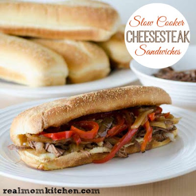 Slow Cooker Cheesesteak Sandwiches