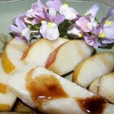 Fresh Pears With Parmigiano-Reggiano and Balsamic Vinegar