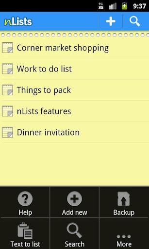 n Lists