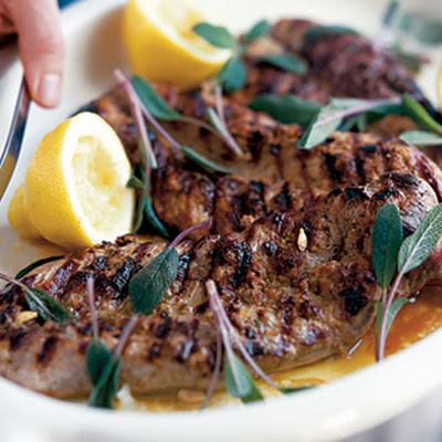 Barbecued Pork With Sage, Lemon & Prosciutto