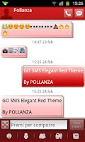 Screenshot of GO SMS Elegant Red