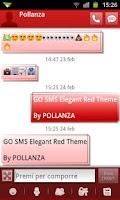 Screenshot of GO SMS Elegant Red