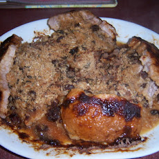 Lindy's Apple Raisin Stuffed Pork Chops
