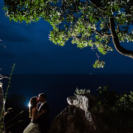 at night by Antonio Miše - Wedding Bride & Groom ( vjenčanje, wedding, croatia, dalmatia, miše, photography )