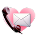 call sms mail to my love icon