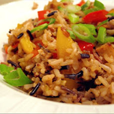 Brown Rice Stir-Fry With Flavored Tofu and Vegetables