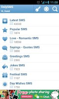 Screenshot of OnlySMS - Free SMS Collection