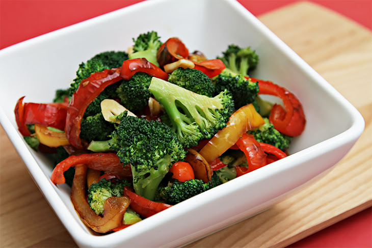 Sautéed Broccoli With Yellow And Red Bell Peppers Recipe | Yummly