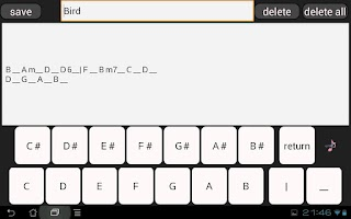 Screenshot of Notebook for Composing