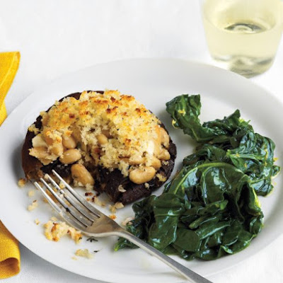 White-Bean-Stuffed Portobellos