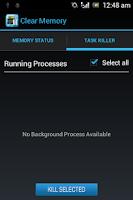 Screenshot of Clear RAM Memory Booster