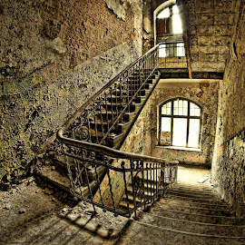 Beelitz Heilstätten by Patrice Schwarz - Buildings & Architecture Decaying & Abandoned ( old, stairs, old building, decay, abandoned )