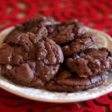 Dark Chocolate Toffee Cookies