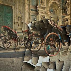 Florence by Katarzyna Malinowska - Digital Art Places ( duomo careta facade gothic renaissance tuscany italy )